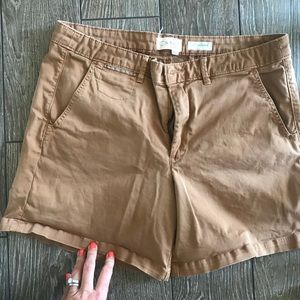 Chino shorts- rust colored